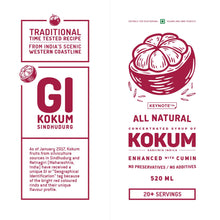 Load image into Gallery viewer, KEYNOTE® Kokum Syrup / 520 milliliters