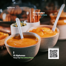 Load image into Gallery viewer, KEYNOTE® Alphonso Mango Pulp / Unsweetened / 850 grams