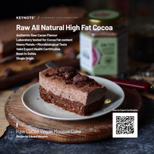 Load image into Gallery viewer, KEYNOTE® Cocoa Powder / 24-25% Fat / Raw and Natural / 140 grams
