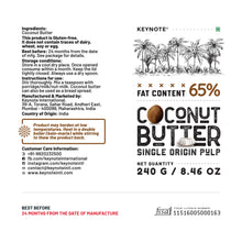 Load image into Gallery viewer, KEYNOTE® Coconut Butter / 65% Fat / 240 grams