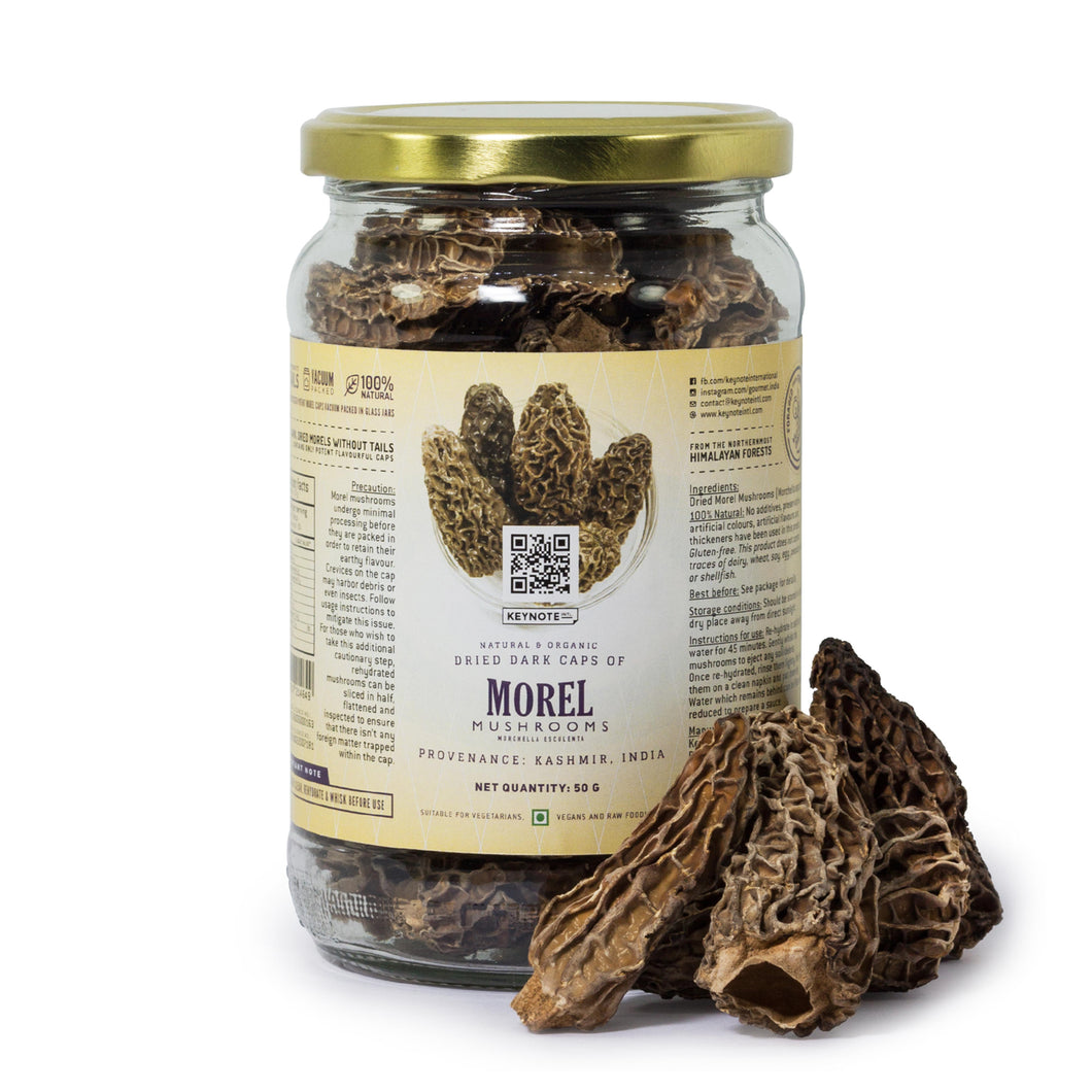 KEYNOTE® Morel Mushrooms Without Tails / Medium / 50 grams