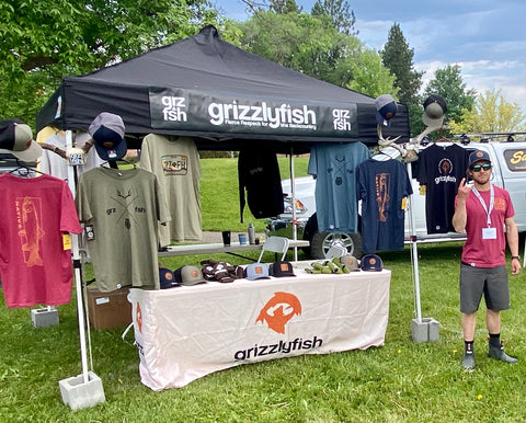 GrizzlyFish booth photo at Backcountry Anglers Rendezvous Missoula Montana