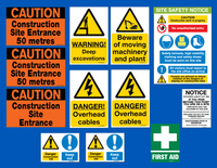 Site Safety Sign - Apollo Construction - Safety Sign, Site Signage - www.apolloconstruction.ca - {{ shop.address.country }} - {{ shop.address.province }} - {{ shop.address.city }}