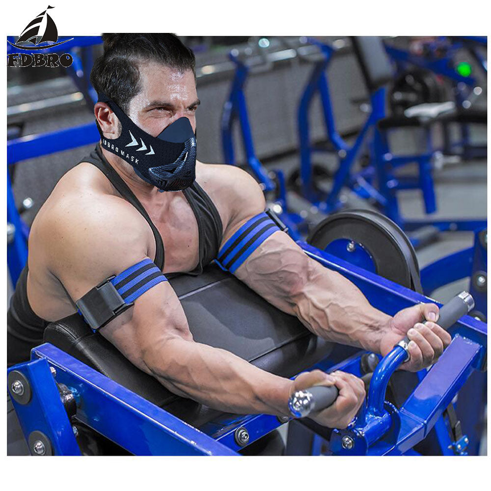 FDBRO Fitness Gym Equipment BFR Occlusion Bands Bodybuilding Weightlifting Wrap for Biceps Blood Flow Restriction Training