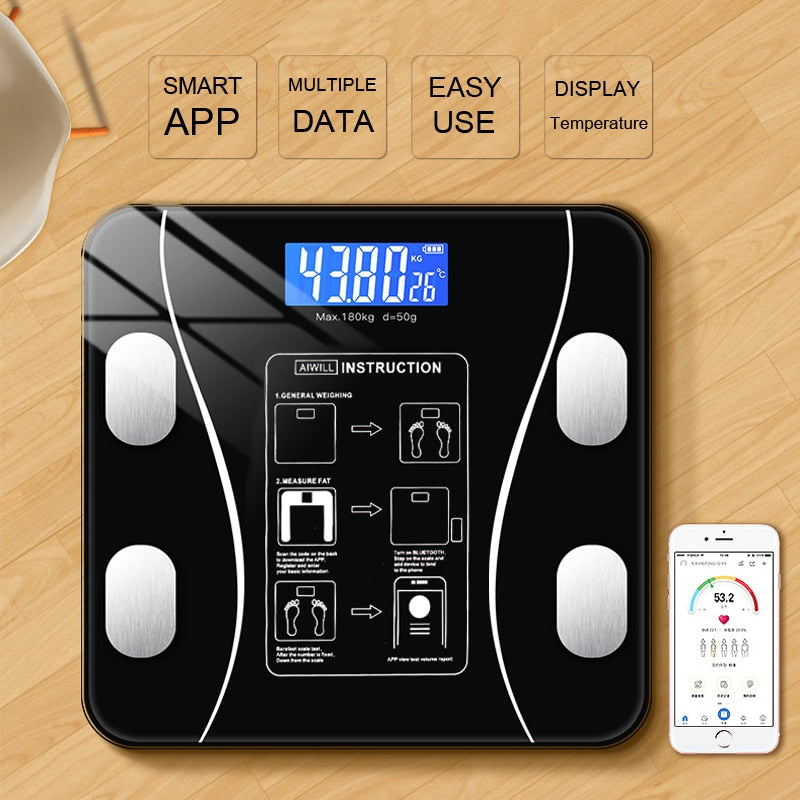 Bluetooth Body Fat Scale BMI Scales