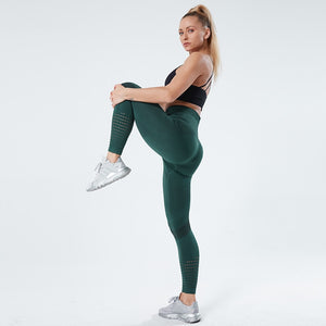 NORMOV Leggings For Fitness Seamless Leggings High Waist Yoga Pants Fitness Women Workout BreathableTights Training Pants