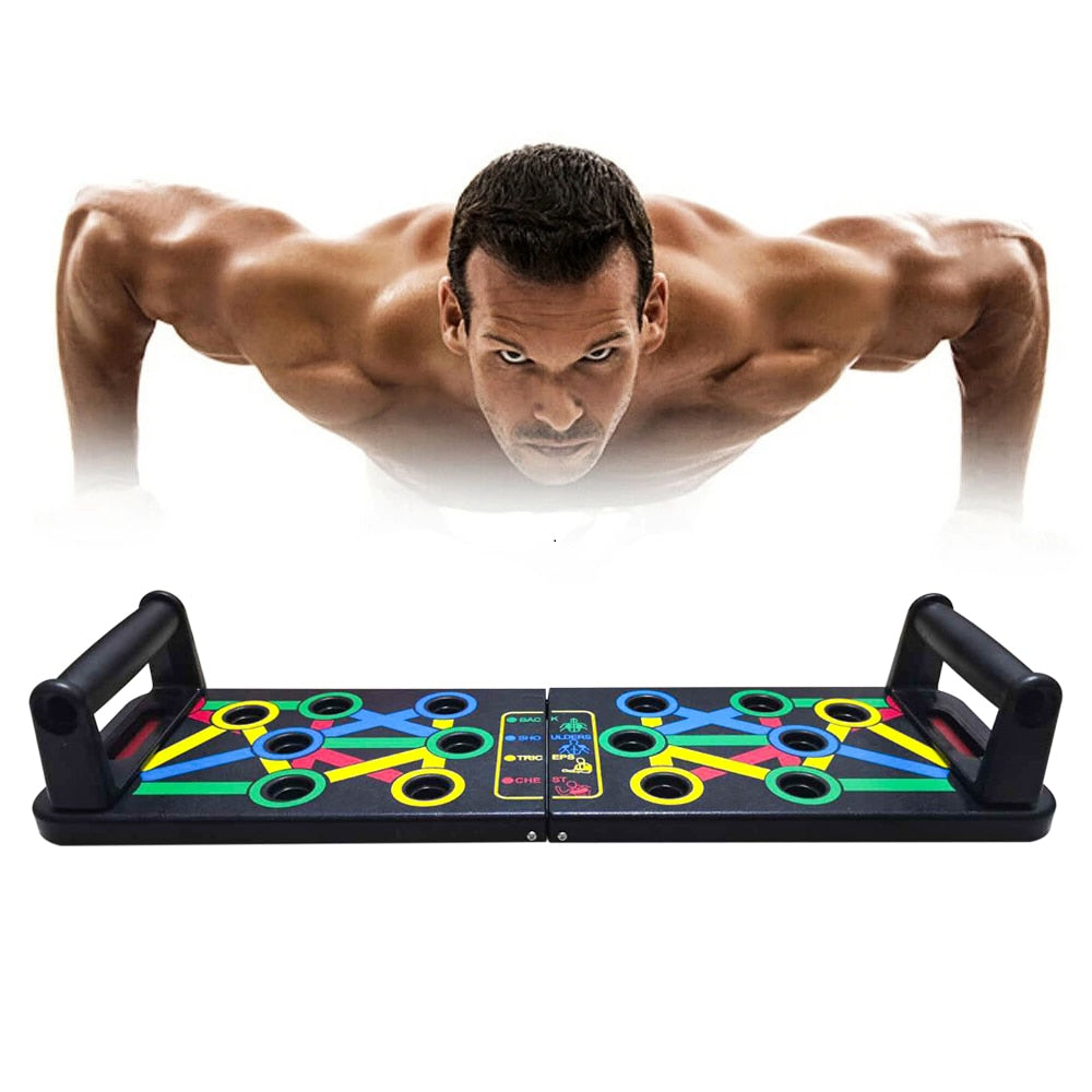 14 in 1 Push-Up Rack Board Training Sport Workout Fitness Gym Equipment Push Up Stand for ABS Abdominal Muscle Building Exercise