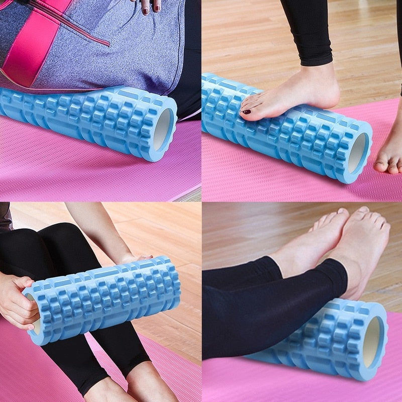 Yoga Column Gym Fitness Foam Roller Pilates Yoga Exercise Back Muscle Massage Roller Soft Yoga Block Muscle roller