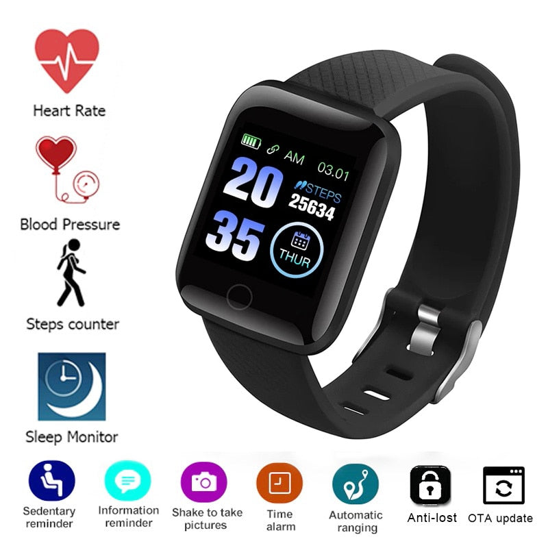 Blood Pressure Measurement Heart Rate Monitor Smartwatch