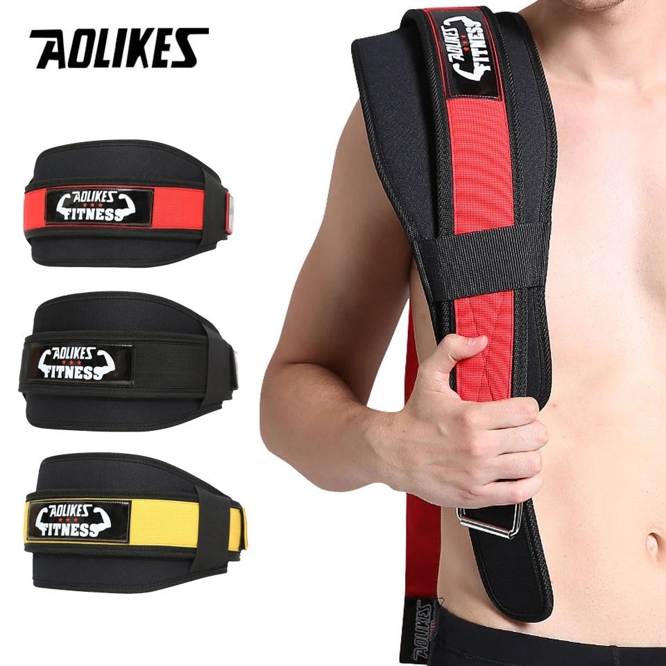 Man Nylon Fitness Weight Lifting Squat Belt Safety Gym Waist Suppport Training Belt Back Supporting Protect Lumbar Power