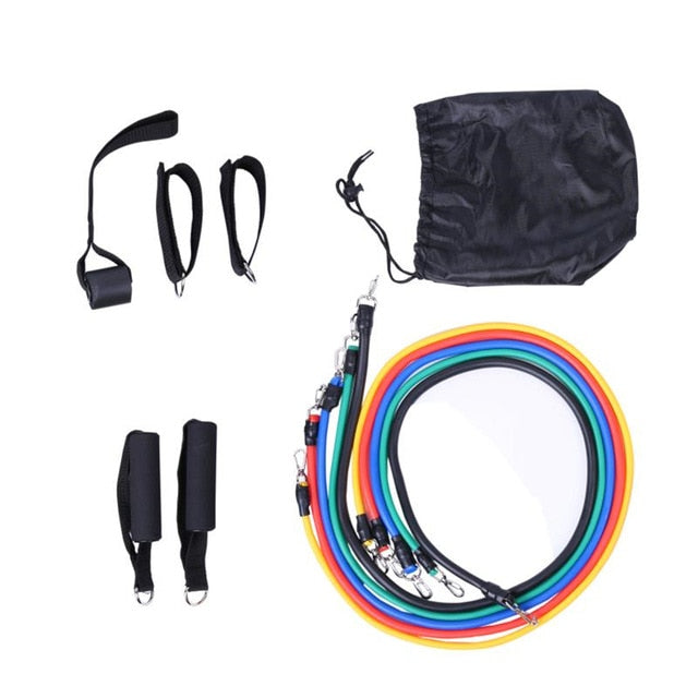 17Pcs/Set Latex Resistance Bands Exercise Fitness pull up loop Band Gym Door Anchor Ankle Straps With Bag Kit Set Yoga