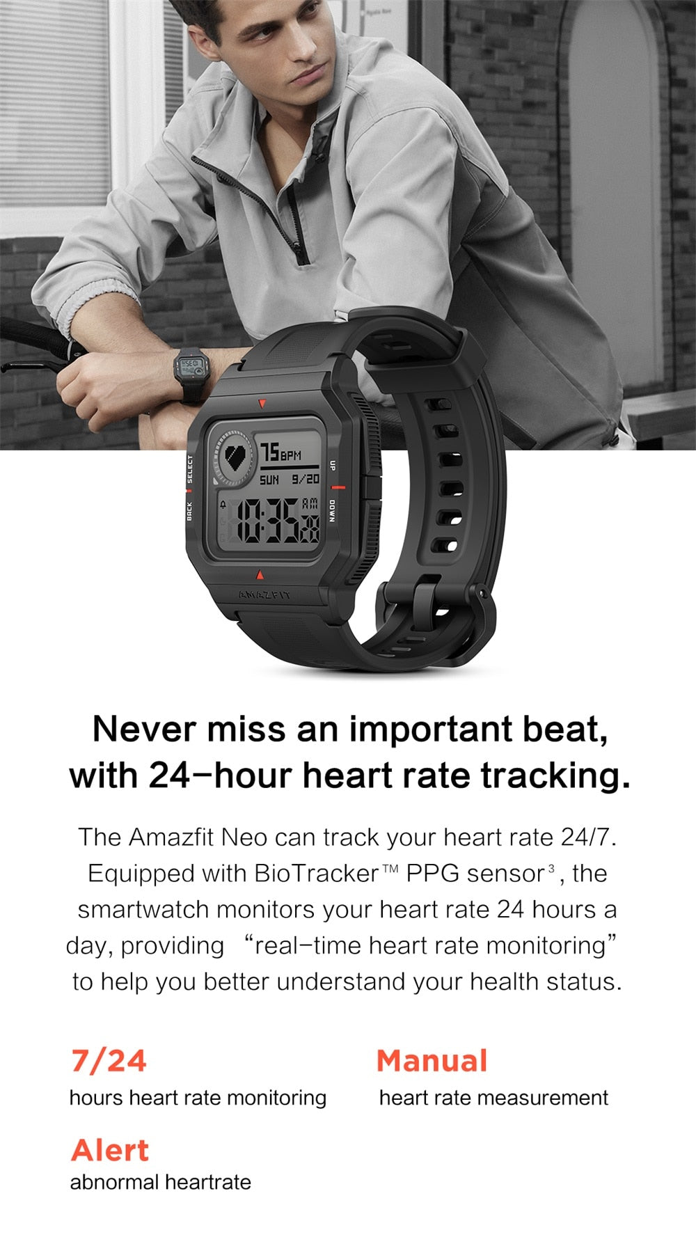 2020 Amazfit Neo Smart Watch Bluetooth Smartwatch 5ATM Heart Rate Tracking 28Days Battery Life For Android IOS Phone In Stock