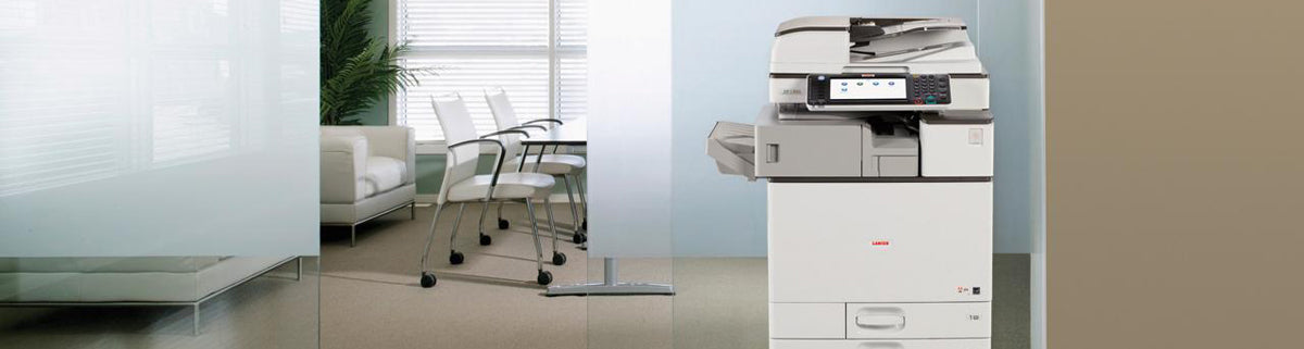 Modern office with a Lanier multifunctional printer