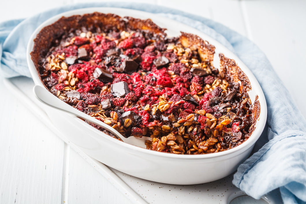 Chocolate & Cherry Oat Bake