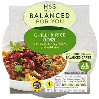 M&S Balanced For You Chilli & Rice