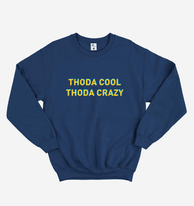 THODA COOL THODA CRAZY NAVY BLUE SWEATSHIRT