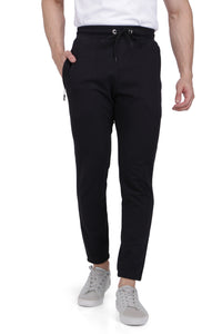 Black Small Grip Track Pant with Zipper