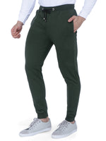 Load image into Gallery viewer, Bueno Life Olive Track Pant with bottom rib, zipper