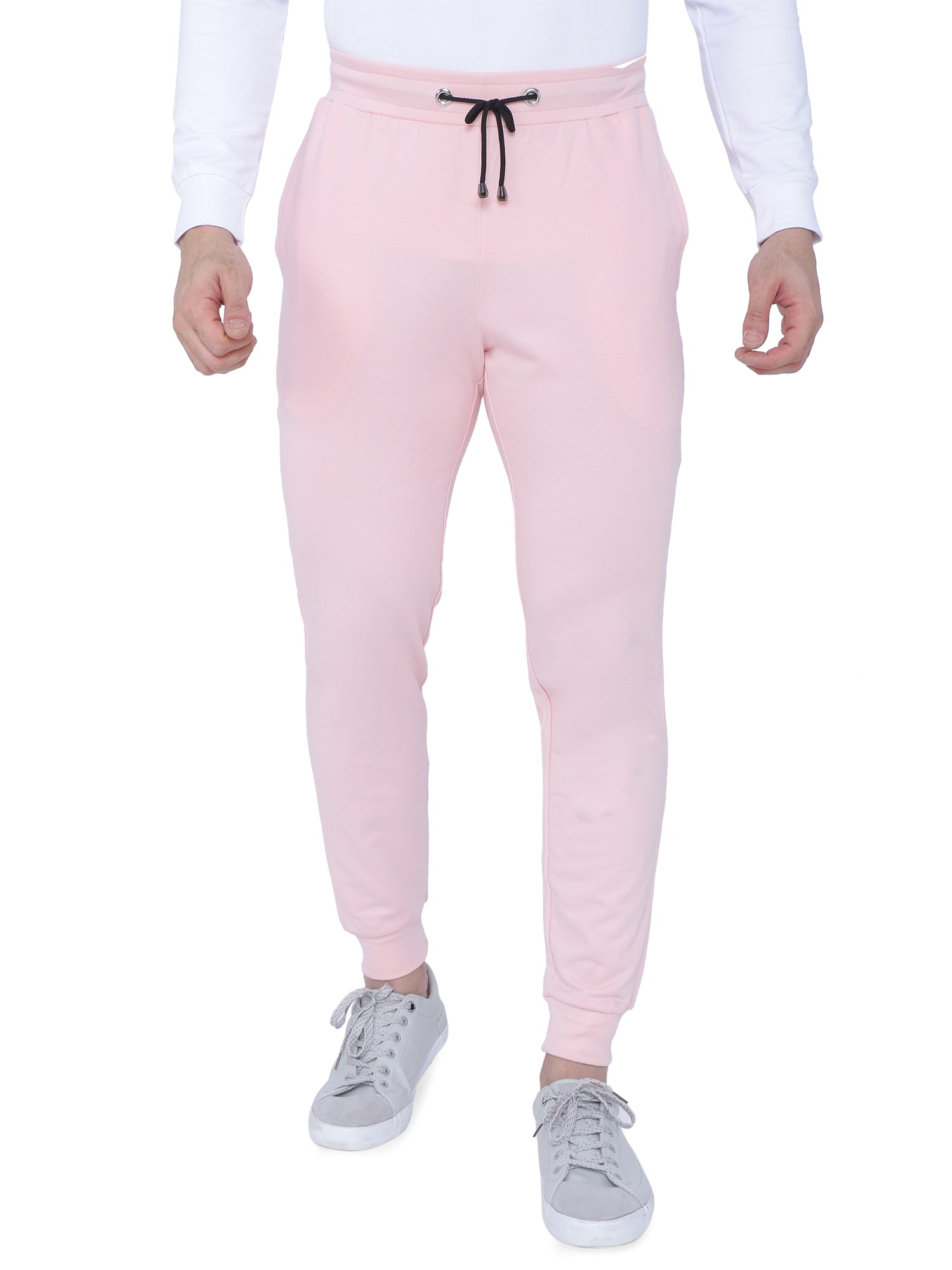 Bueno Life Pink Track Pant with bottom Rib ziper