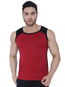 Bueno Life Red & Black Vests for men