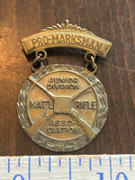 Vintage Medal Pro-Marksman JUNIOR NRA Junior Rifle Corps