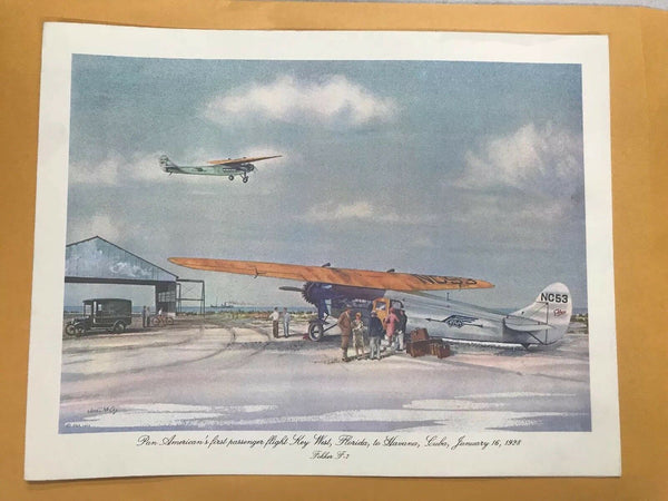 Vintage Pan Am John T McCoy Menu Clipper National Eagle FLORIDA to CUBA 1970s