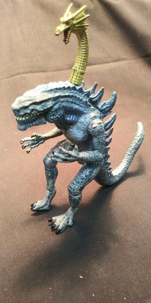 "RARE Vintage Godzilla with Golden Dragon on Head 7.5"" 1998 Toho Trendmasters"