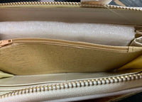Thammy's Boutique White Wallet Purse With White/Gold Inside - With Tag