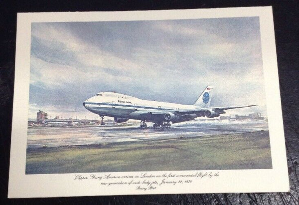 Vintage Pan AM John T McCoy Menu Clipper Young American Arrives in London 5x7