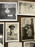 Vtg 19 -Black & White Photos American Family On Vacation National Parks Monumwnt