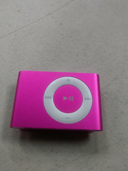 Untested Apple A1204 iPod Shuffle 2nd Generation Clip On 1GB Model Pink Fushia