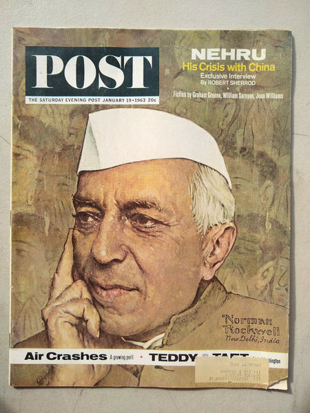 Saturday Evening Post Magazine January 19 1963 Norman Rockwell Cover