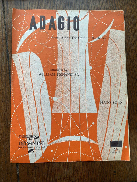 adagio william fichanfler sheet music belwin music Vintage
