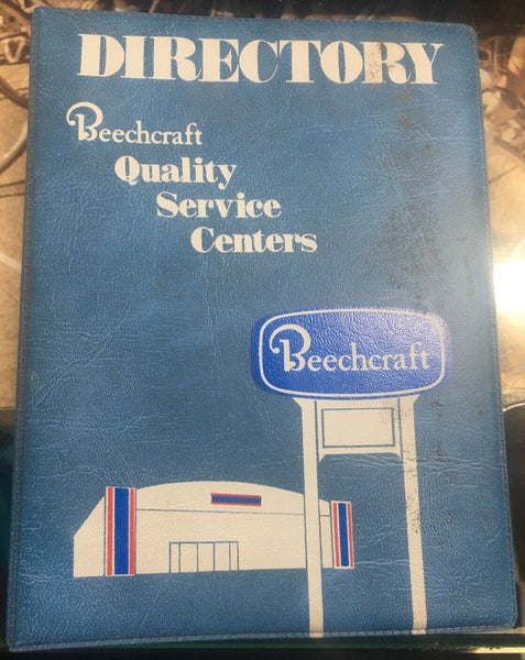 Vtg 1980 Beechcraft Service Center Directory Guide Book 1964 1965 Letters Beech
