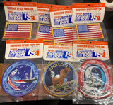 Heat Seal Iron On Souvenir Space Emblem NASA - Lot Of 7 Different Patches