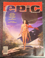 EPIC ILLUSTRATED #32 OCT 1985 JERRY BINGHAM COVER - MARVEL