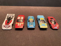 Vintage 1985 Matchbox Super GT BR Custom Lot of 5 Toy Race Cars Blue Red White