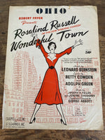 "1953 ""WONDERFUL TOWN"" BROADWAY THEATRE SHEET MUSIC ""OHIO"" ROSALIND RUSSELL"