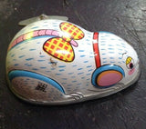 Vintage 1950's Tin Litho Wind Up Toy Mouse Hiro Japan