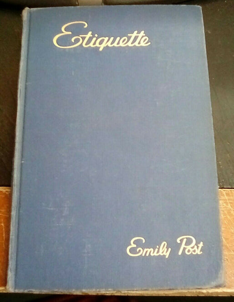 Etiquette by Emily Post vintage hardcover HC blue book of social usage 1945