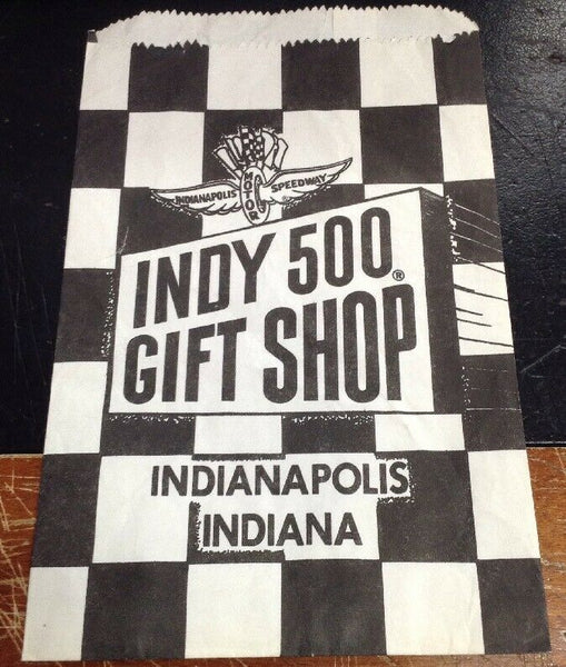 Indianapolis Motor Speedway Indy 500 Gift Shop Paper Bag