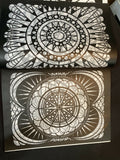 Crop Circles Stained Glass Coloring Book by Jessica Mazurkiewicz