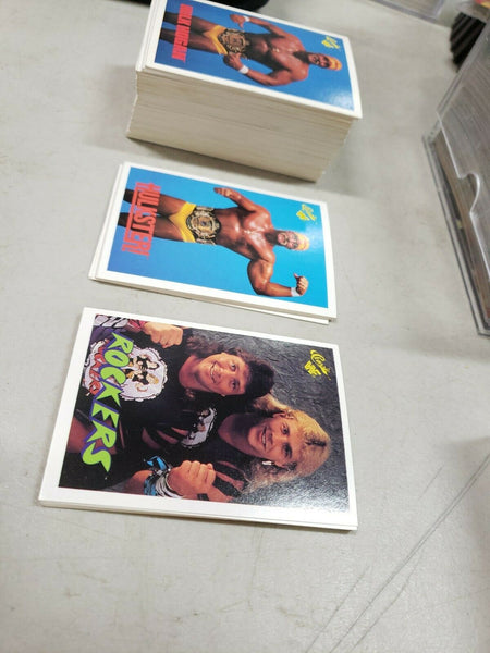 1990 WWF WWE CLASSIC Wrestling 131/145 card set - Good condition! See photos!