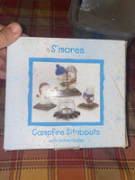 smores campfire sitabouts with votive holder midwest NIB