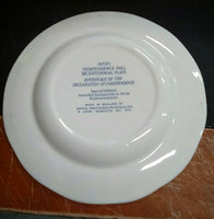 "1976 Independence Hall Wedgwood BICENTENNIAL 8"" PLATE Vintage AVON AWARD Blue"