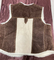 Vintage Style Suede Rancher Vest Small