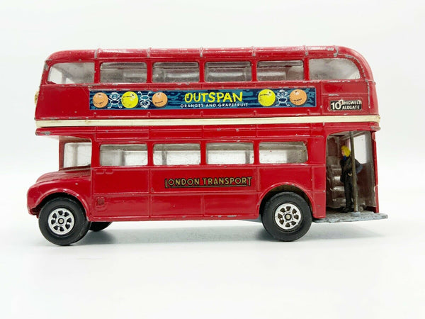 Vintage Corgi Toys Outspan London Transport Routemaster Double Decker Bus