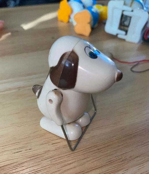 Bandai Wind Up Puppy Dog Jumping Rope Vintage Toy Works!