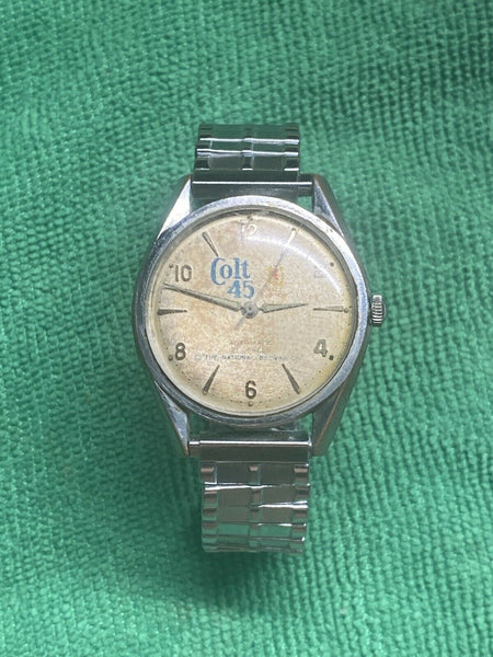 21 jewels COLT 45 National Brewing co watch ST191 Automatic - CANT FIND ANYWHERE