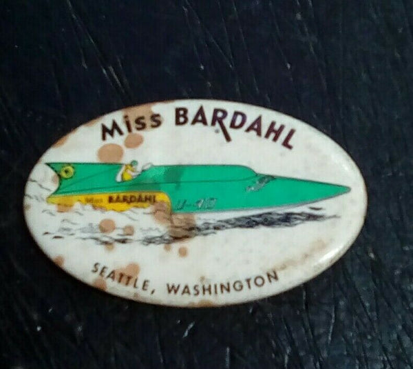 Miss Bardahl Unlimited Hydroplane Pin button Seattle Seafair